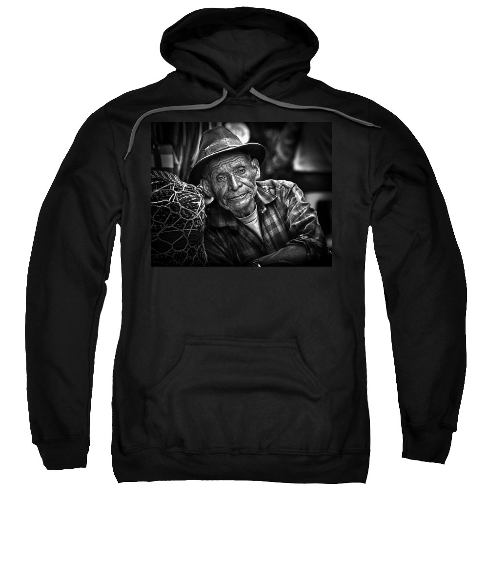 Mayan Indian Sweatshirt featuring the photograph Textile Merchant by Tom Bell
