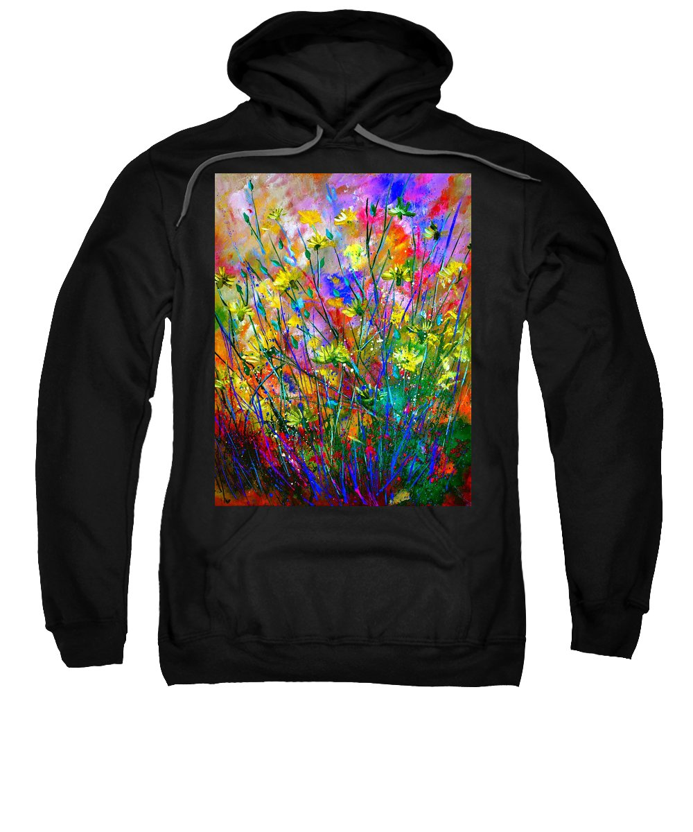 Flowers Sweatshirt featuring the painting Wild Flowers by Pol Ledent