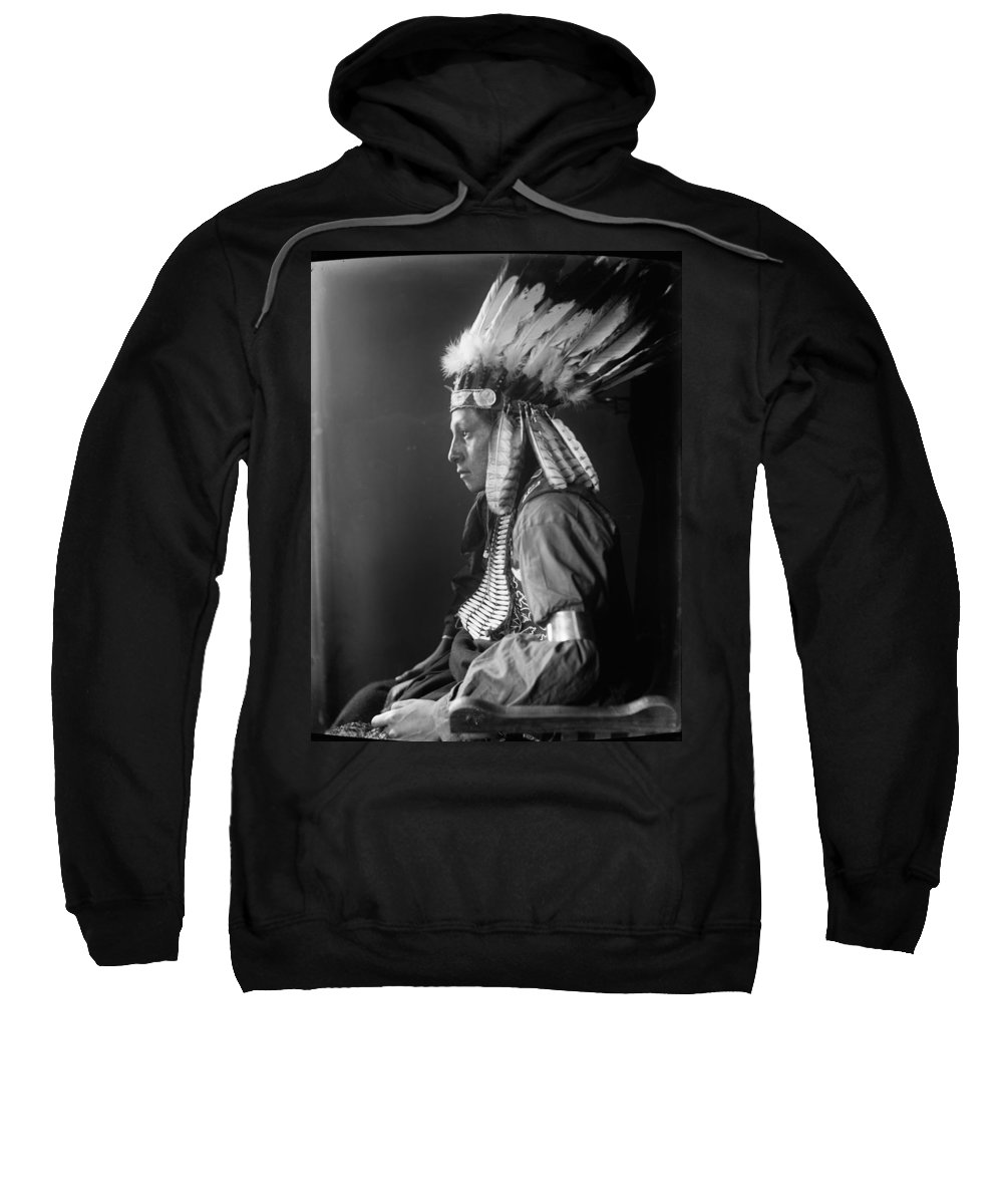 1900 Sweatshirt featuring the photograph Sioux Native American, C1900 by Granger