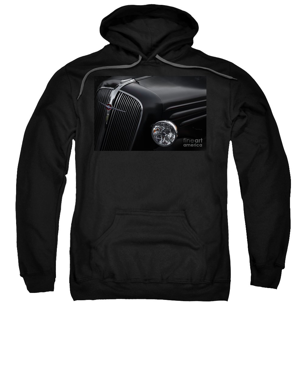 1936 Chevrolet Sweatshirt featuring the photograph 36 Black by Dennis Hedberg