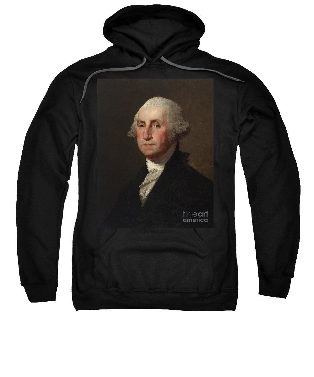 The President Sweatshirt featuring the painting George Washington by Gilbert Stuart