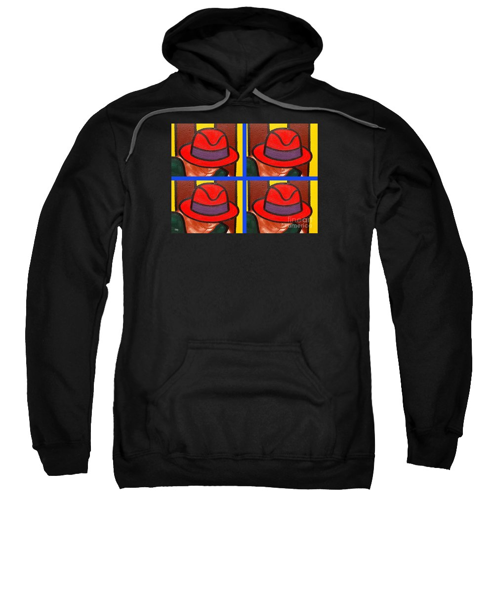 Fashion Sweatshirt featuring the painting 4 Hats by Patrick J Murphy