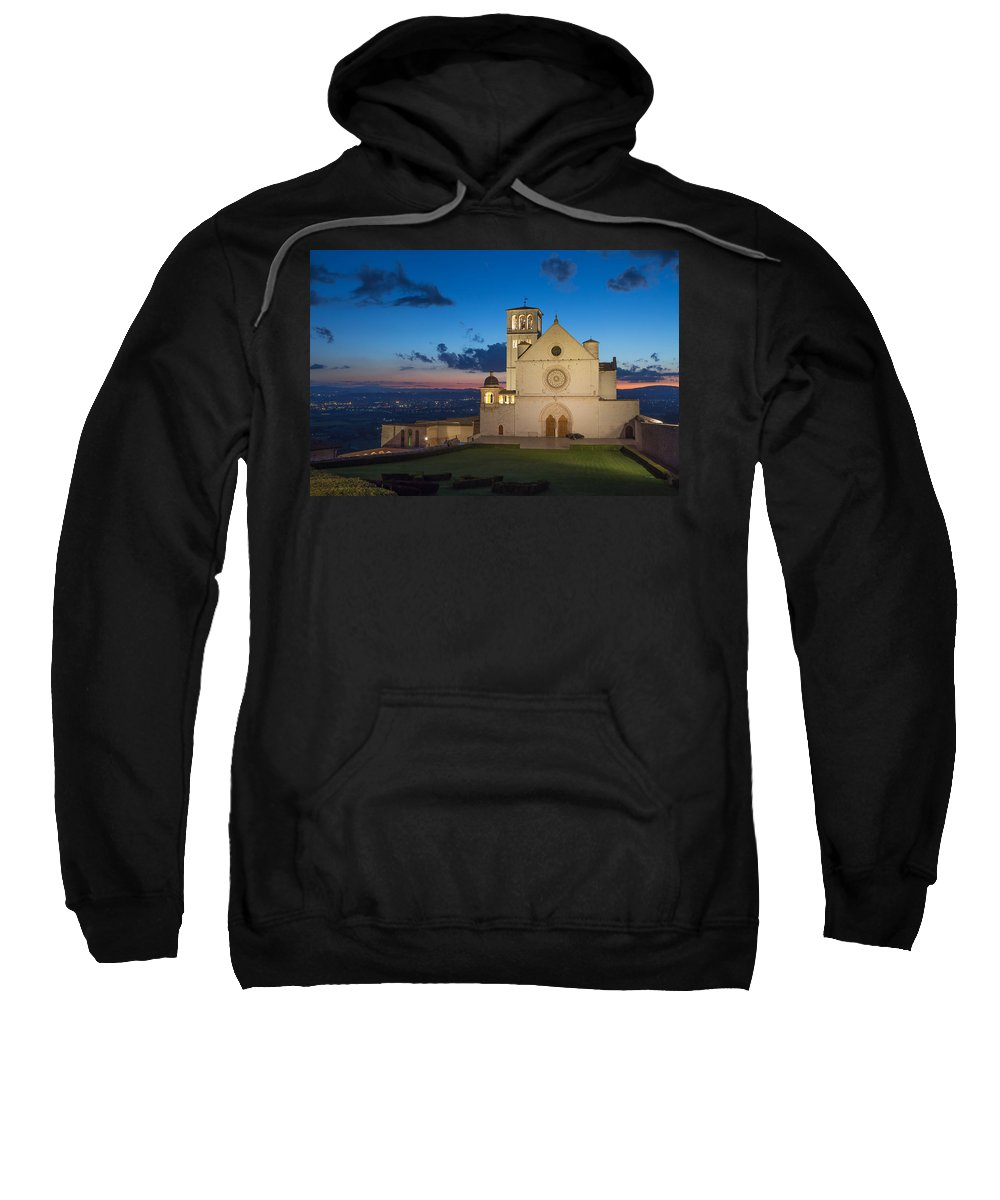 Landmark Sweatshirt featuring the photograph The Papal Basilica Of St. Francis Of Assisi by Jaroslav Frank
