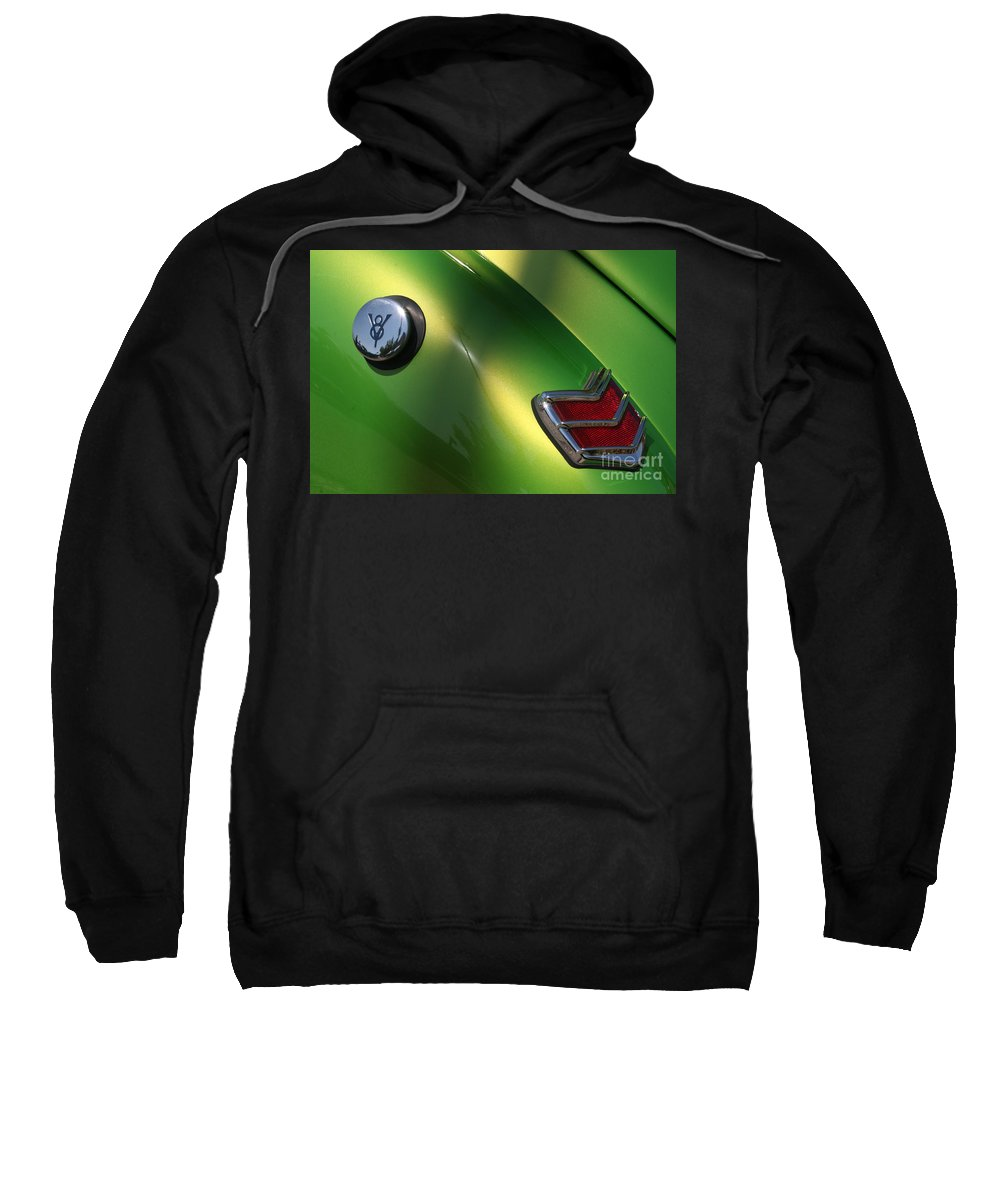 1940 Sweatshirt featuring the photograph 40 Ford - Tank N Tail Light-8527 by Gary Gingrich Galleries