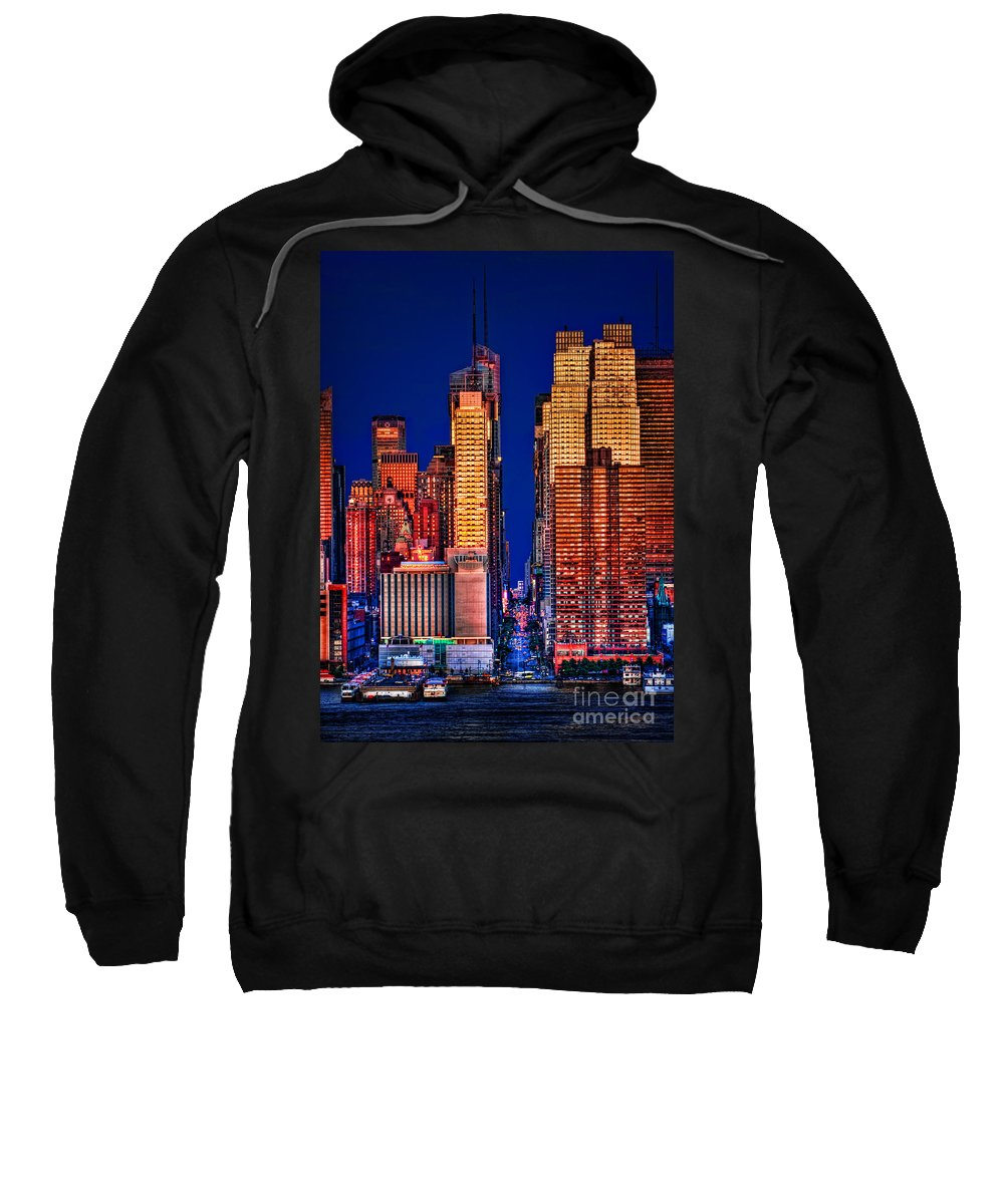42nd Street Sweatshirt featuring the photograph 42nd Street by Susan Candelario