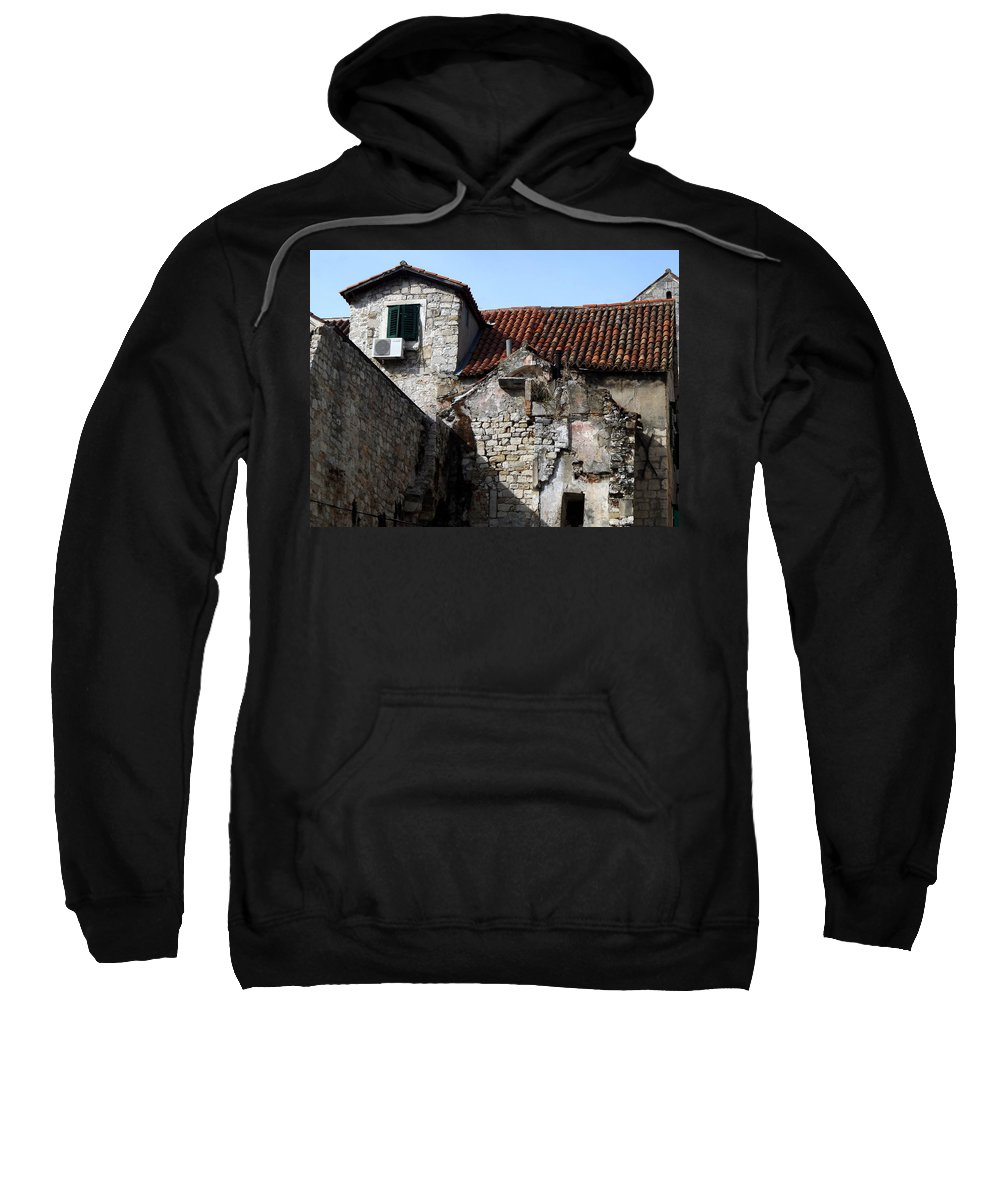 Split Croatia Sweatshirt featuring the photograph Views Of Split Croatia by Richard Rosenshein