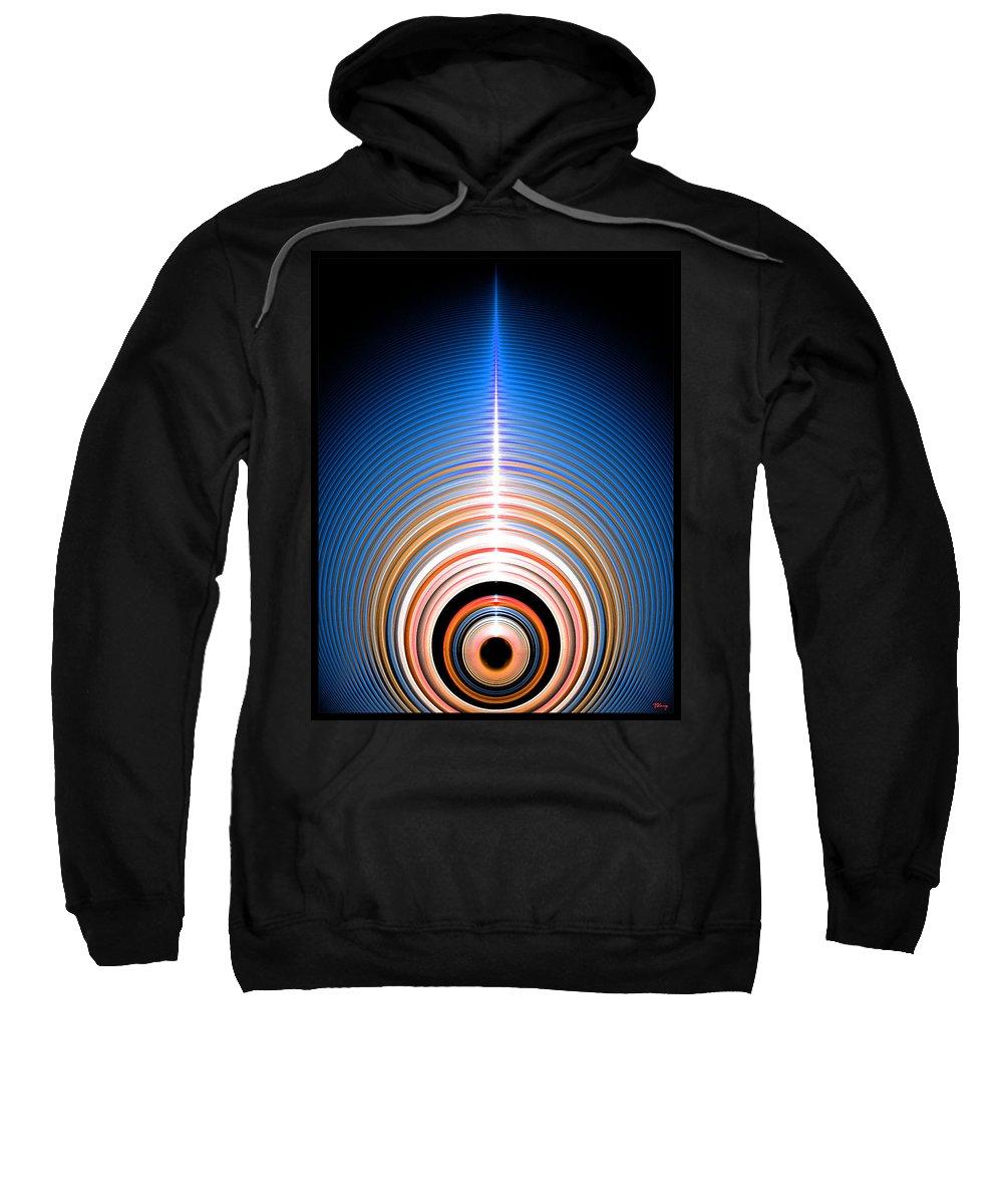 45000000 Sweatshirt featuring the digital art 45000000 Rpms by Brian Kenney