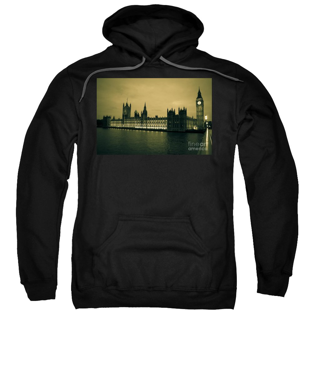 Big Ben Sweatshirt featuring the photograph Big Ben And Houses Of Parliament by Lana Enderle