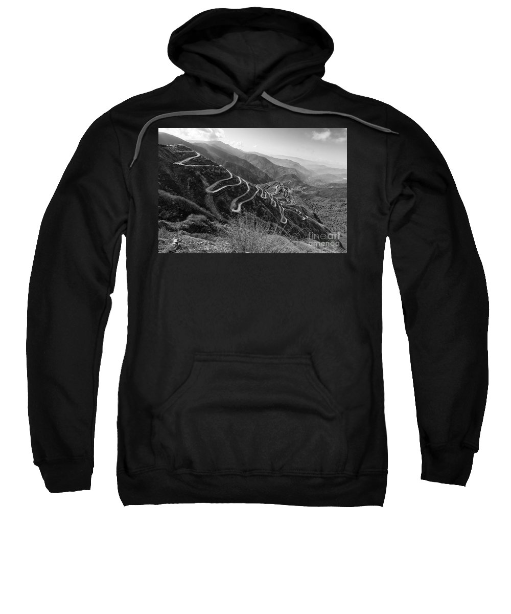 Road Sweatshirt featuring the photograph Curvy Roads Silk Trading Route Between China And India by Rudra Narayan Mitra