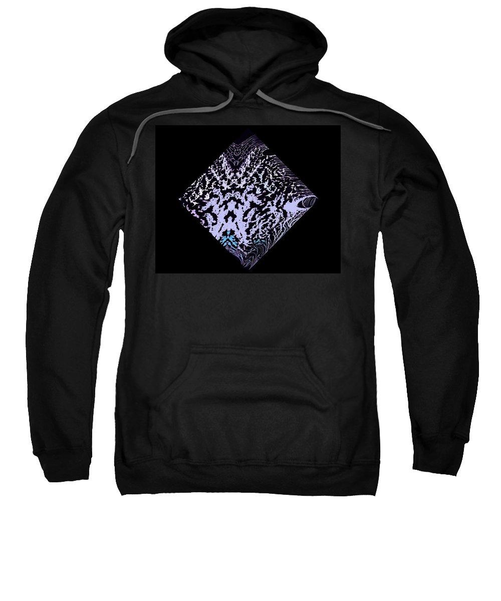 Symmetrical Sweatshirt featuring the painting Diamond 100 by J D Owen