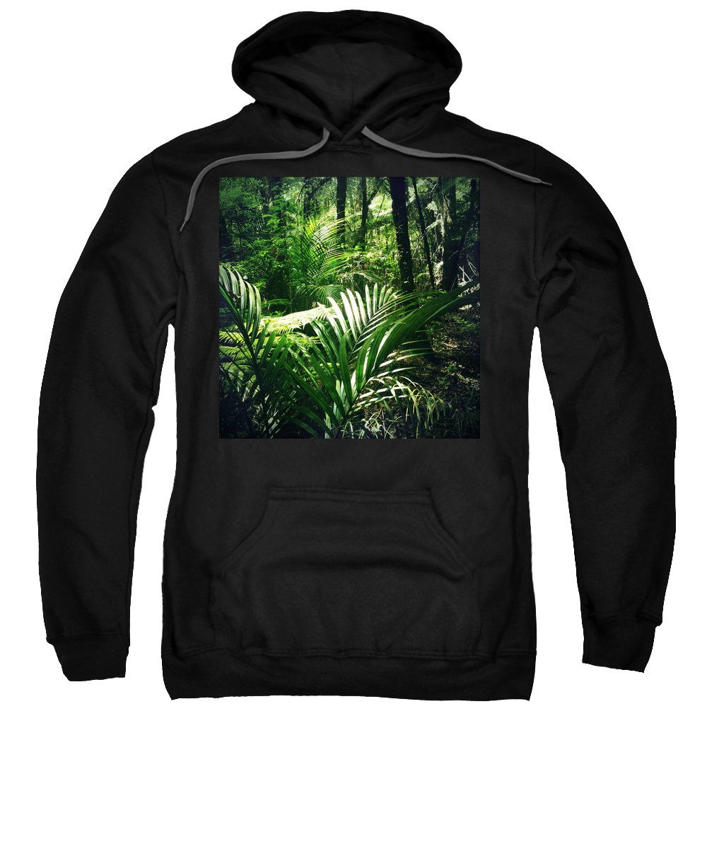 Rain Forest Sweatshirt featuring the photograph Jungle Leaves by Les Cunliffe