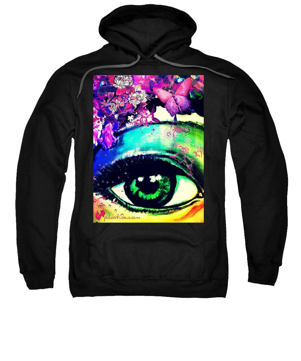Pikotine Sweatshirt featuring the painting Pikotine Art by Pikotine Art