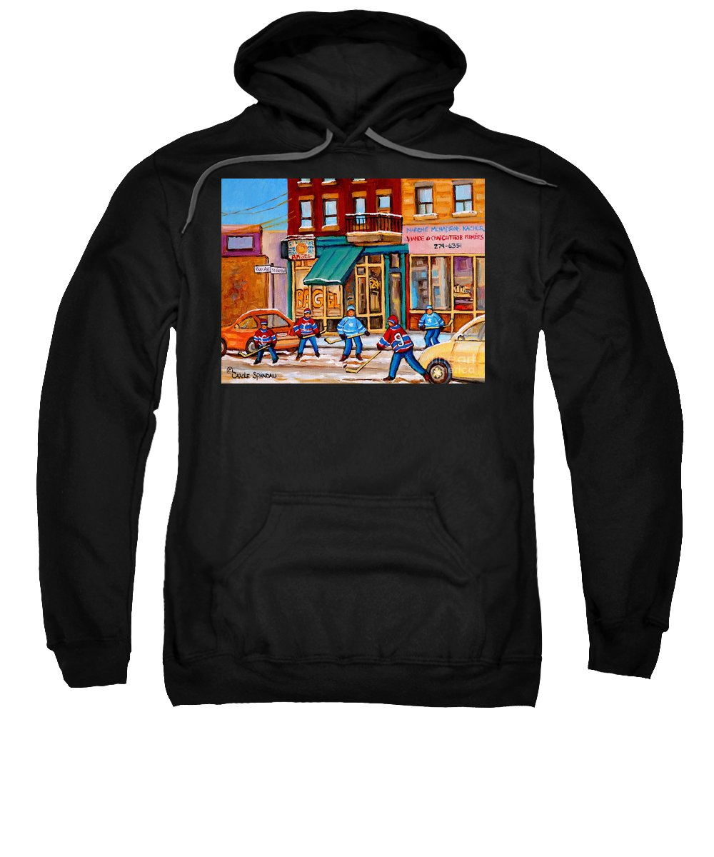 Montreal Sweatshirt featuring the painting Montreal Paintings by Carole Spandau