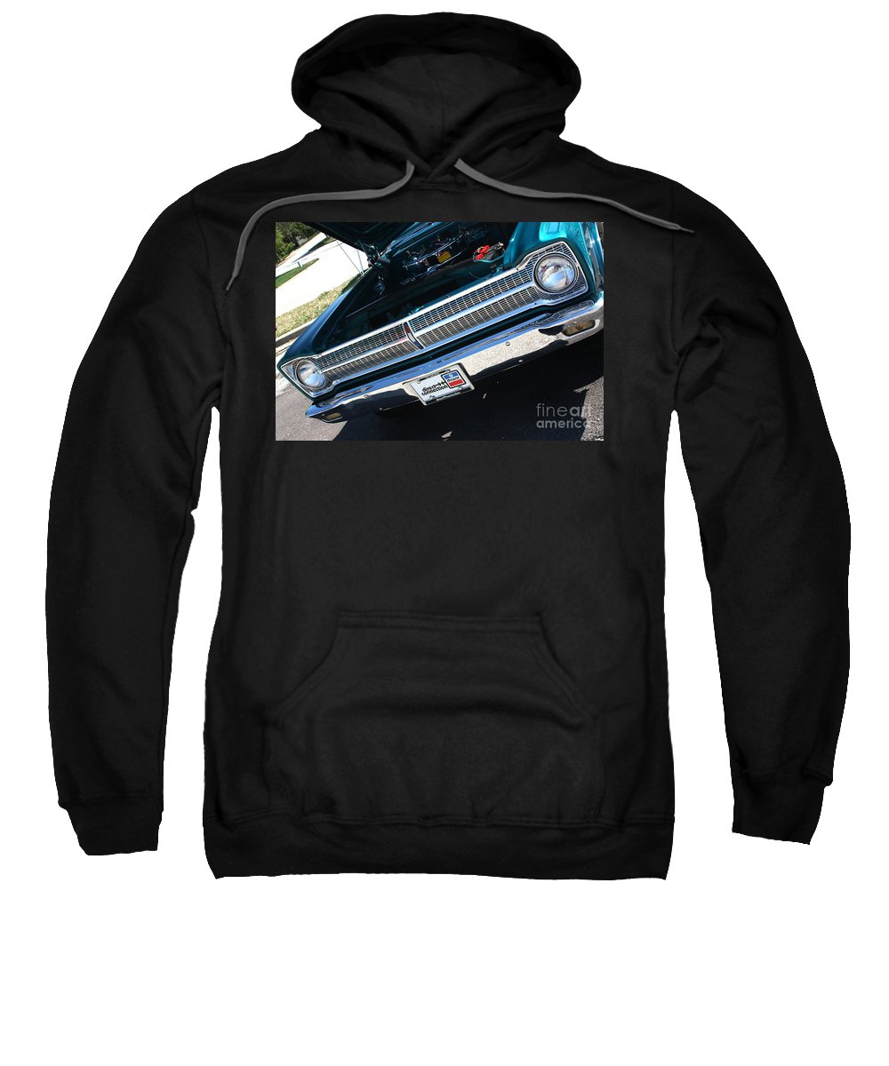 1965 Sweatshirt featuring the photograph 65 Plymouth Satellite Grill-8481 by Gary Gingrich Galleries