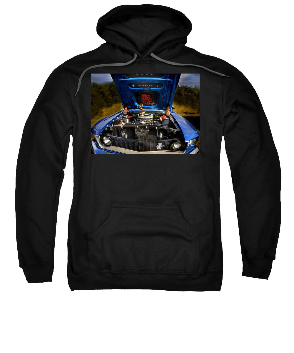 1969 Mustang Sweatshirt featuring the photograph 69 Mustang by Thomas Young