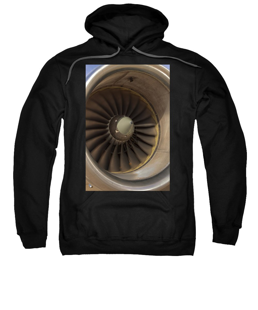 Jet Sweatshirt featuring the photograph 757 Engine by Ricky Barnard