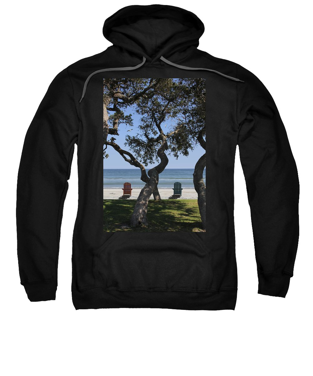 Seascape Sweatshirt featuring the photograph A Day At The Beach by Mike McGlothlen