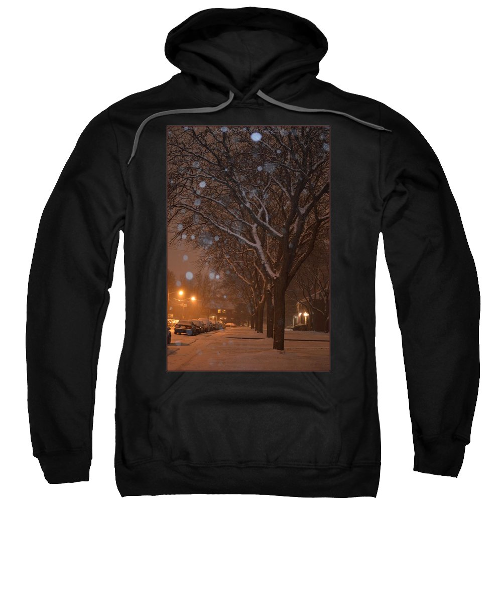 Canvas Art Sweatshirt featuring the photograph A December Night by Sonali Gangane