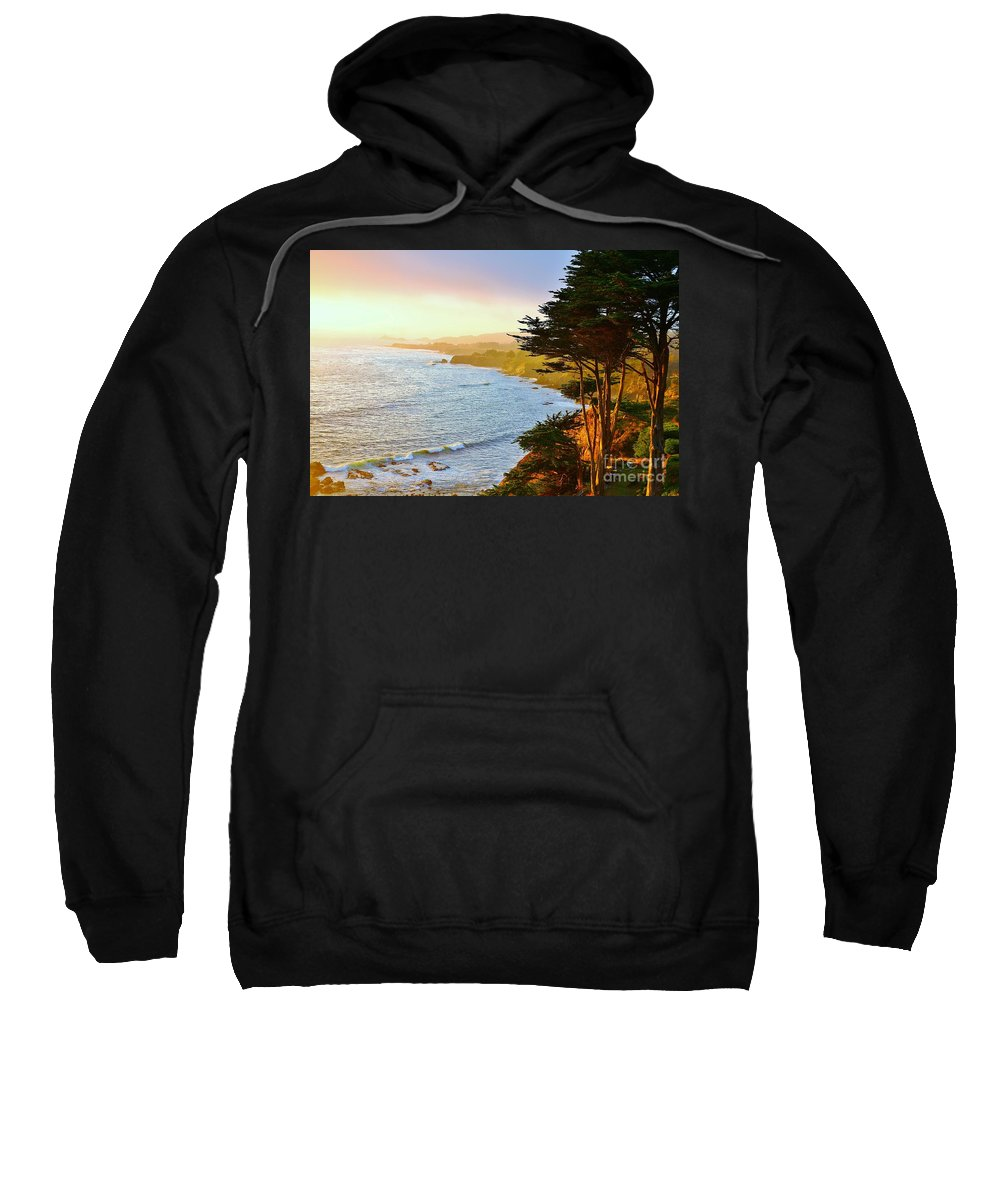 Ocean Sweatshirt featuring the photograph A Gualala Getaway by Long Love Photography