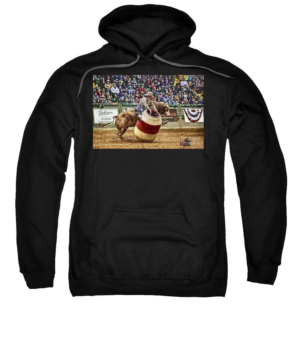 Night Sweatshirt featuring the photograph A Night At The Rodeo V9 by Douglas Barnard