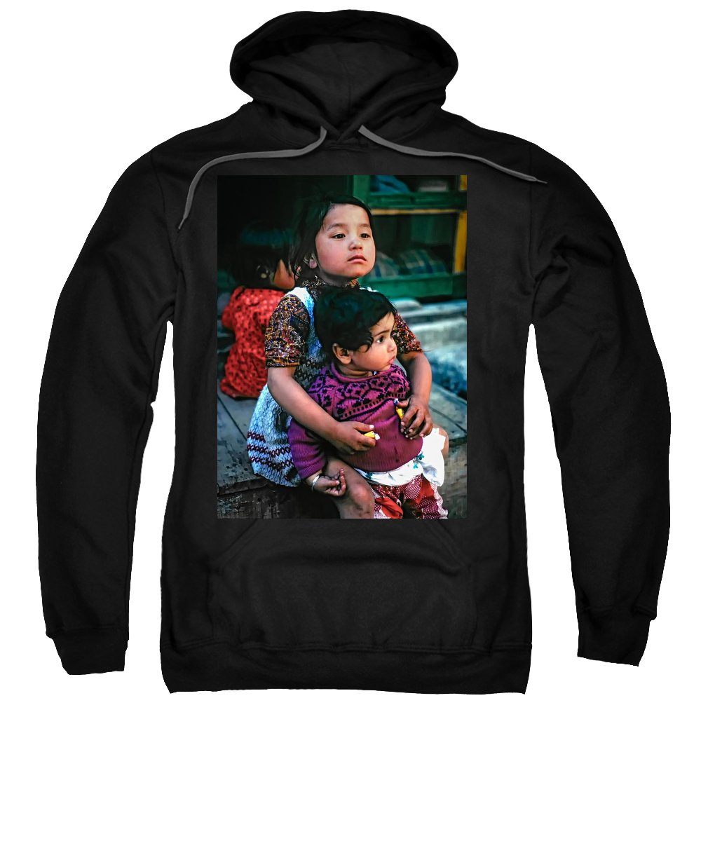 India Sweatshirt featuring the photograph A Proud Sister by Steve Harrington