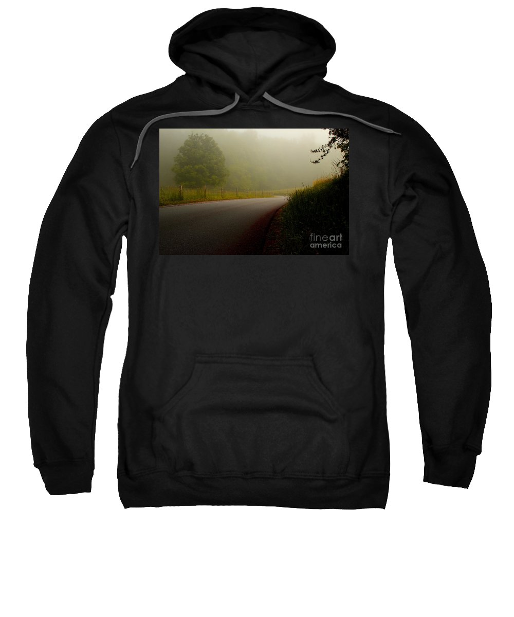 Cades Cove Sweatshirt featuring the photograph A Quiet Morning by Michael Eingle