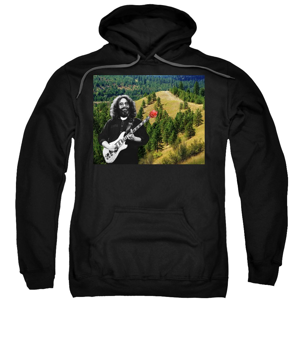 Grateful Dead Sweatshirt featuring the photograph A Rose For The Hills by Ben Upham