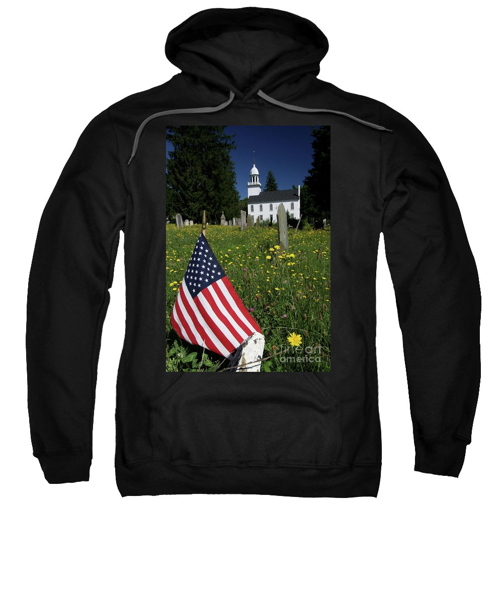 Country Sweatshirt featuring the photograph A Veteran's Scene by Karol Livote