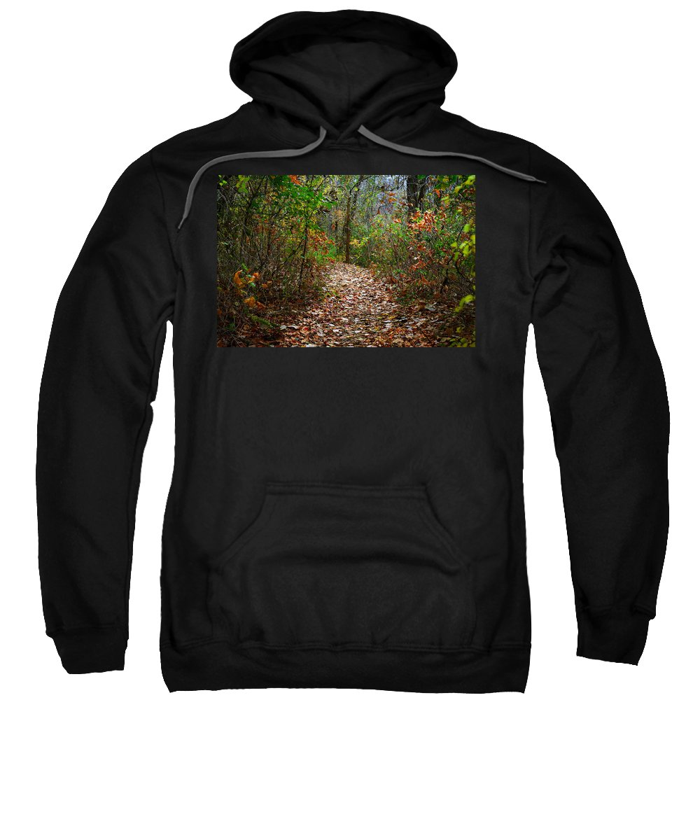 Woods Sweatshirt featuring the photograph A Walk To Remember by Jeff Mize