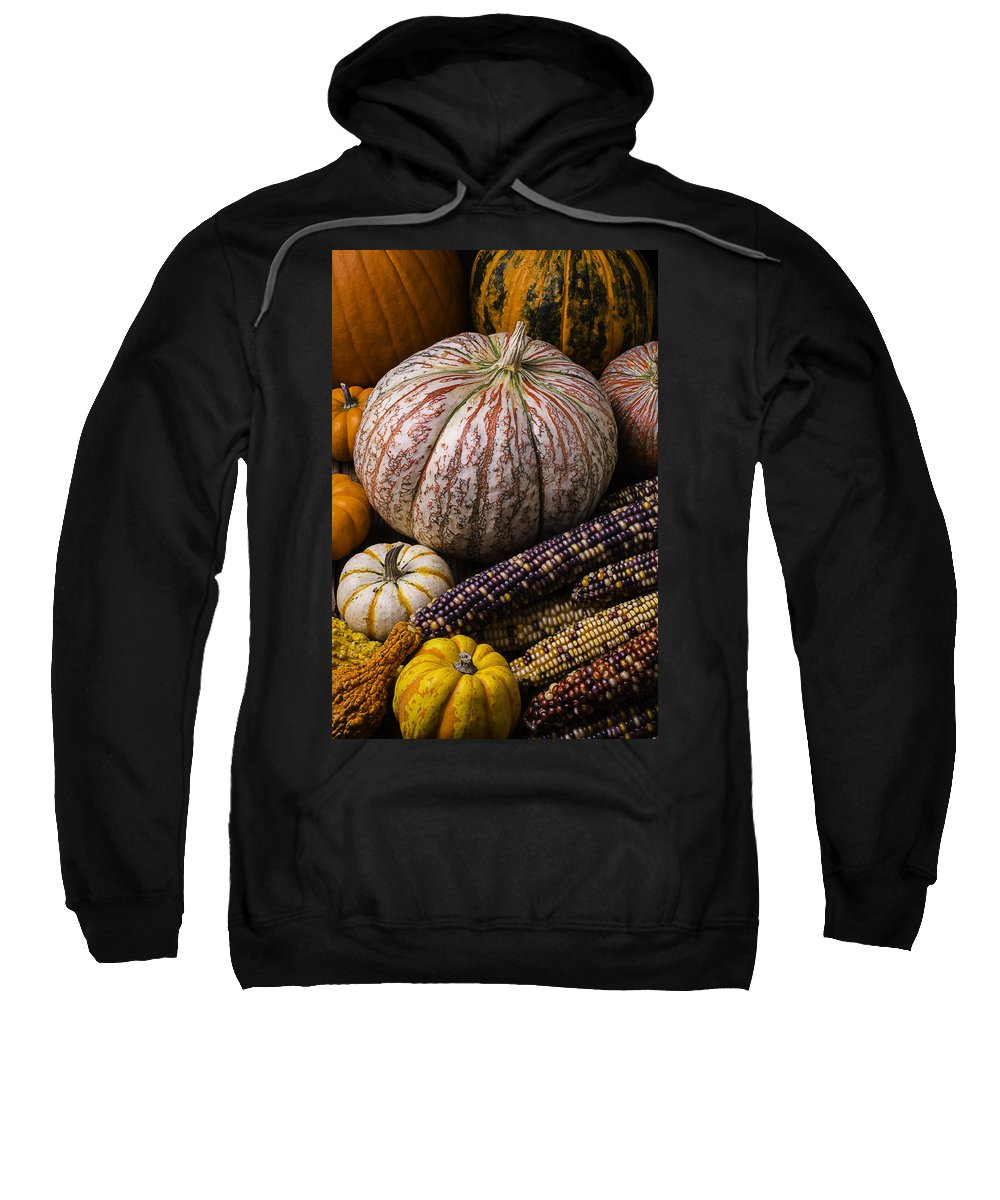 Colorful Sweatshirt featuring the photograph A Wonderful Autumn Harvest by Garry Gay
