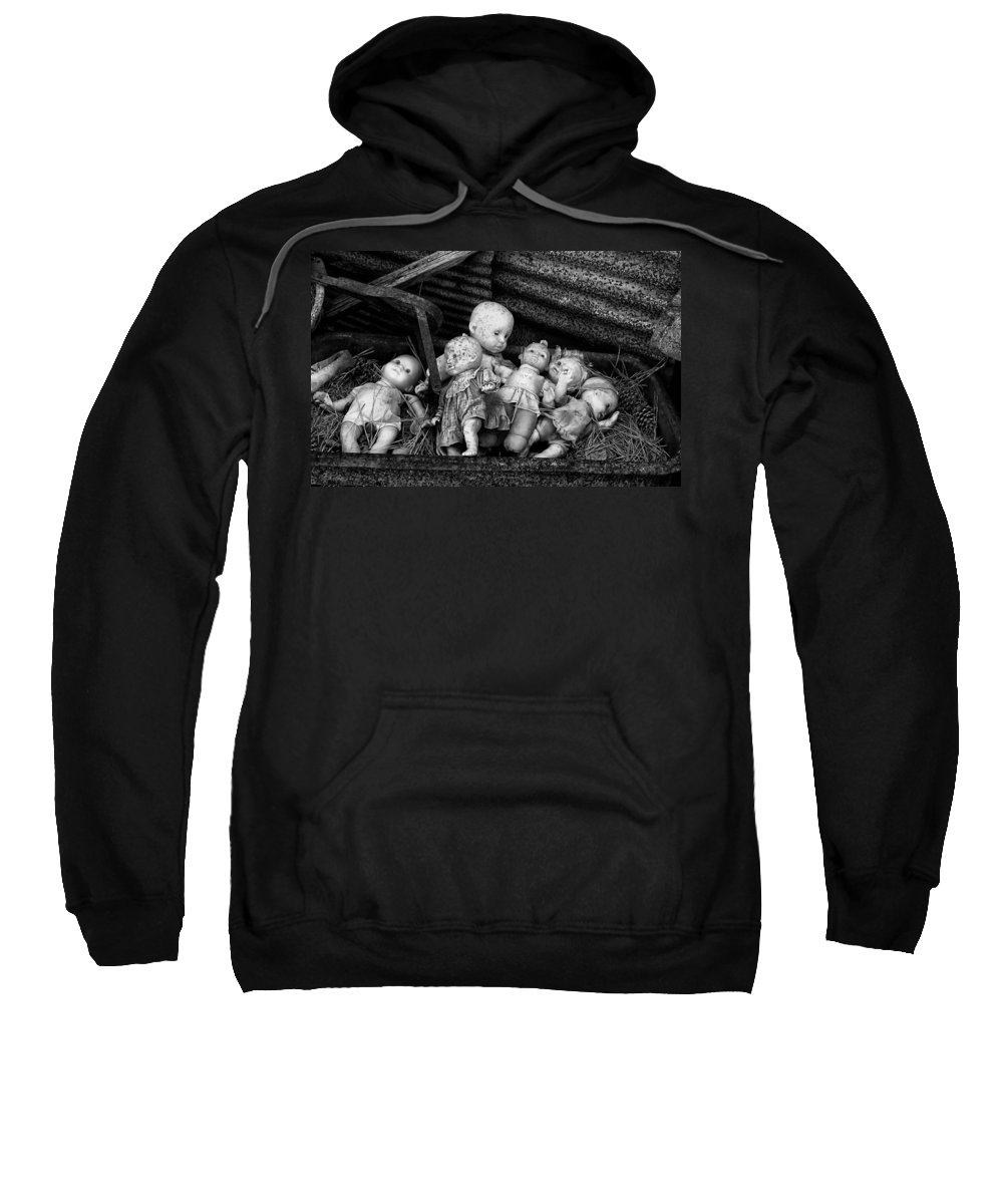 Cindy Archbell Sweatshirt featuring the photograph Abandoned Baby Dolls by Cindy Archbell