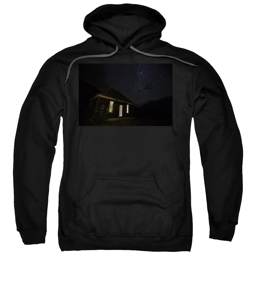 Haunted House Sweatshirt featuring the photograph Abandoned Nights by Darren White