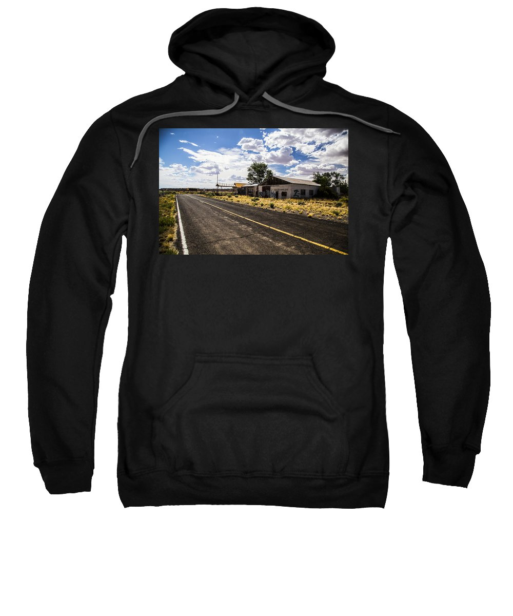 Route 66 Sweatshirt featuring the photograph Abandoned Rest Stop by Angus Hooper Iii