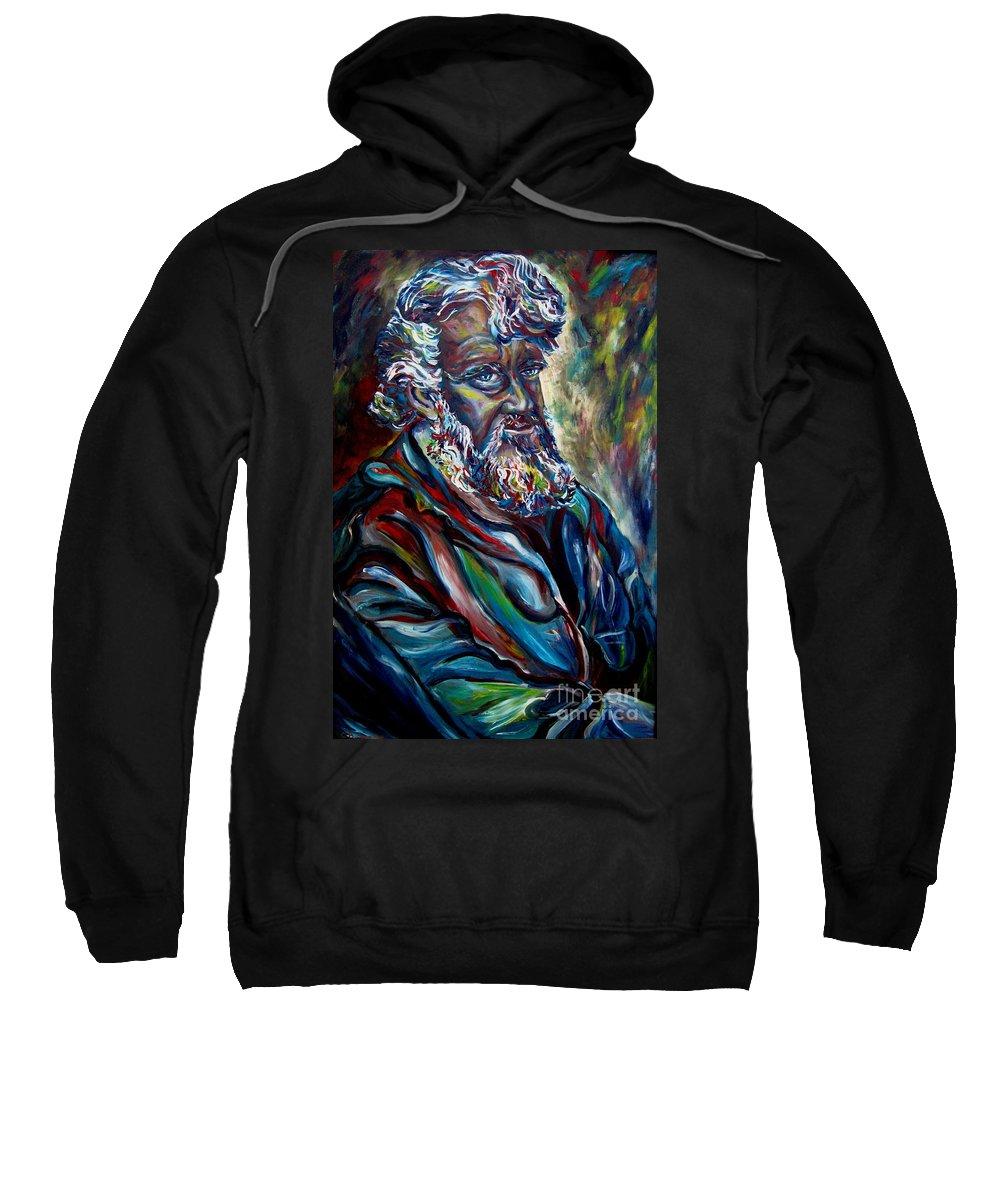 Abraham Patriarh Sweatshirt featuring the painting Abraham Patriarch by Carole Spandau