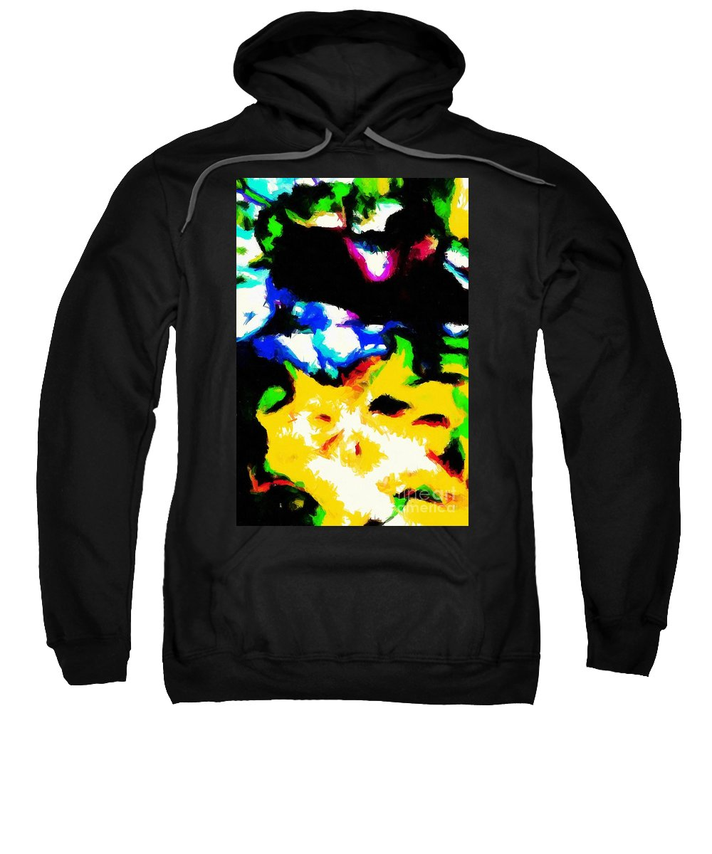 Abstract 103 Sweatshirt featuring the digital art Abstract 103 by Barbara Griffin