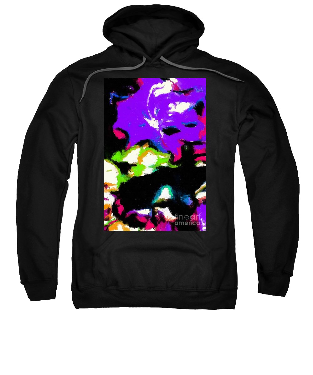 Abstract 104 Sweatshirt featuring the digital art Abstract 104 by Barbara Griffin