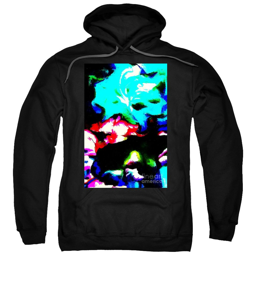 Abstract 105 Sweatshirt featuring the digital art Abstract 105 by Barbara Griffin