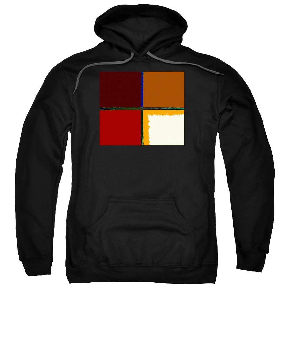 Barbara Griffin Sweatshirt featuring the digital art Abstract 112 by Barbara Griffin