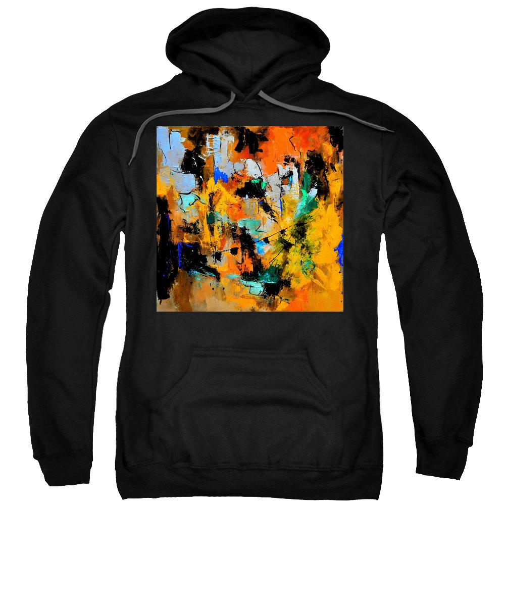 Abstract Sweatshirt featuring the painting Abstract 315002 by Pol Ledent