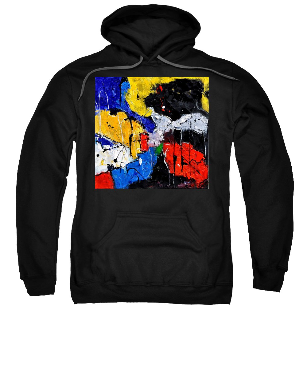 Abstract Sweatshirt featuring the painting Abstract 55315080 by Pol Ledent