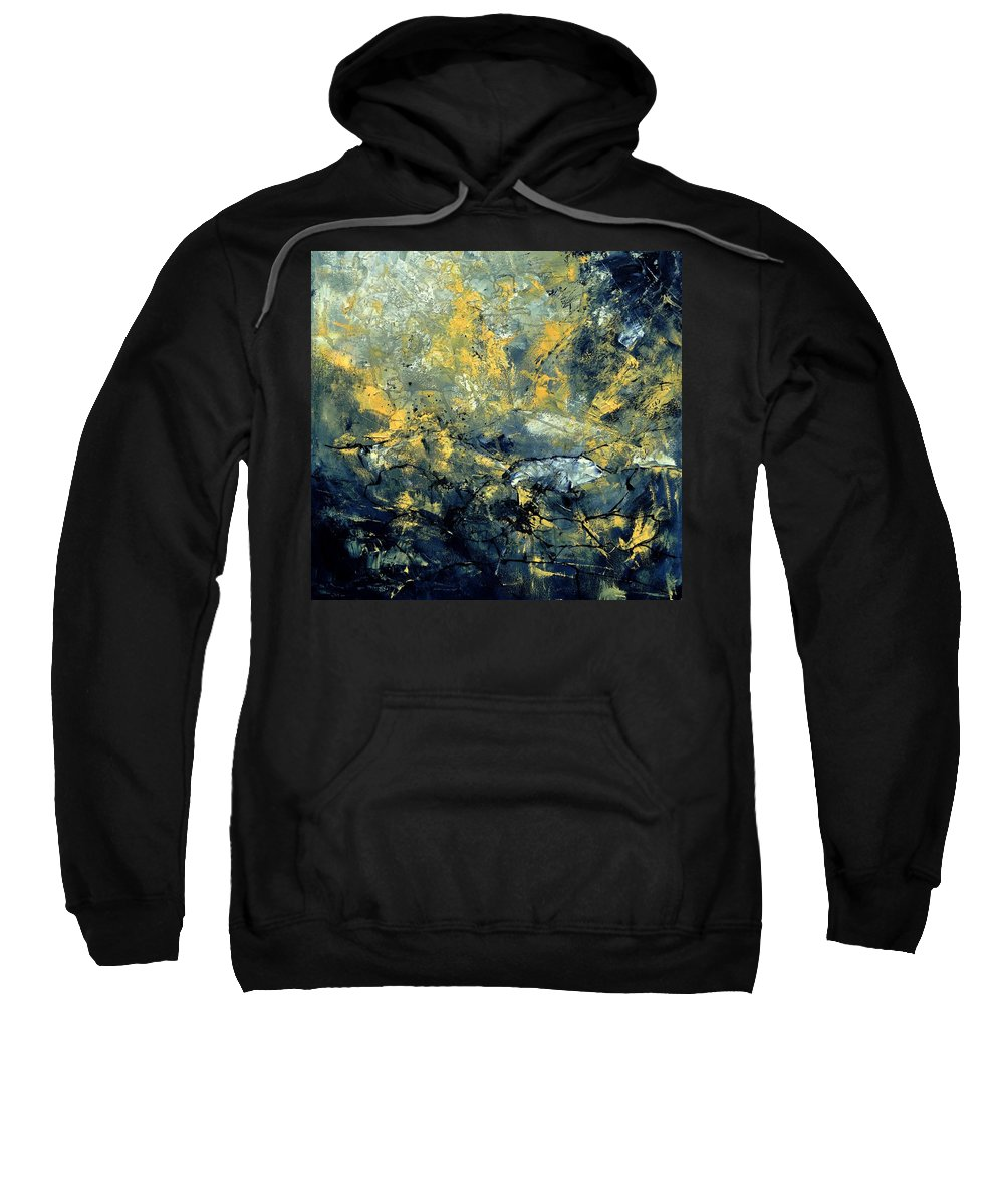 Abstract Sweatshirt featuring the painting Abstract 8313061 by Pol Ledent
