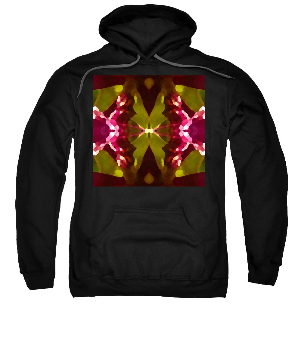 Contemporary Sweatshirt featuring the painting Abstract Crystal Butterfly by Amy Vangsgard