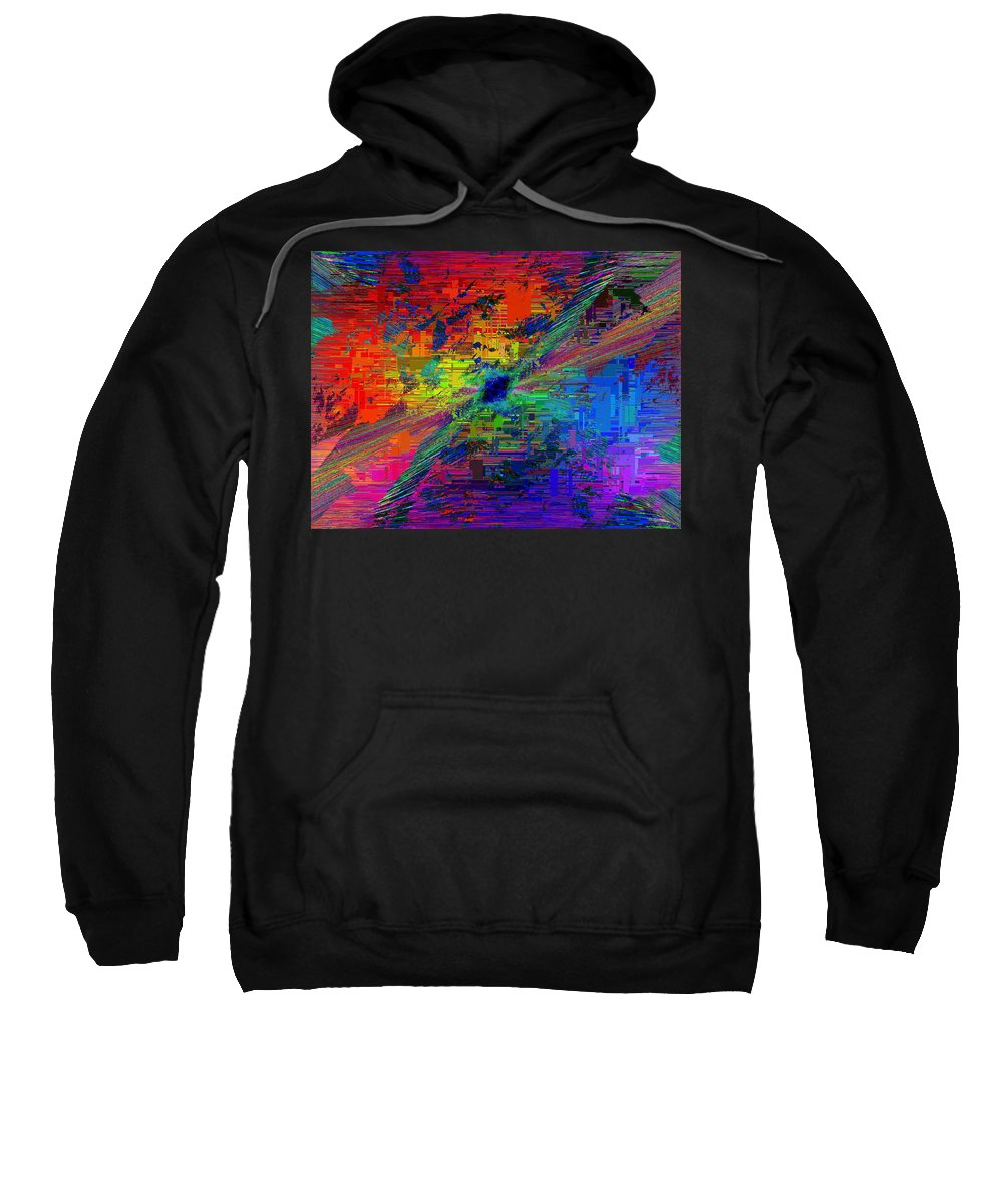 Abstract Sweatshirt featuring the digital art Abstract Cubed 77 by Tim Allen