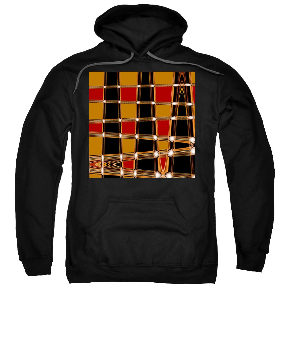 Abstract Sweatshirt featuring the digital art Abstract Lines by Russell Sherwood
