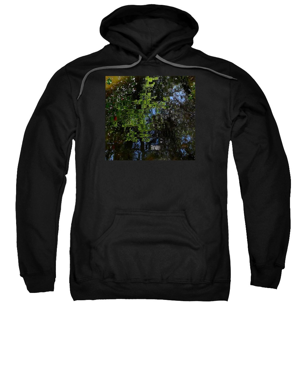 Water Sweatshirt featuring the photograph Abstract Water Reflection by Denise Mazzocco