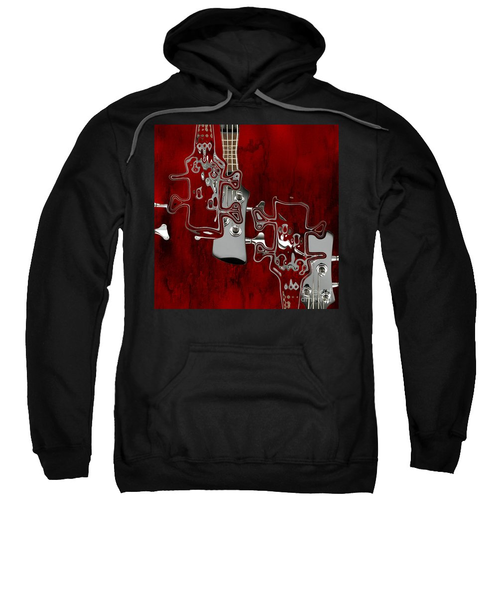 Music Sweatshirt featuring the digital art Abstrait En Do Majeur - S02t02a by Variance Collections