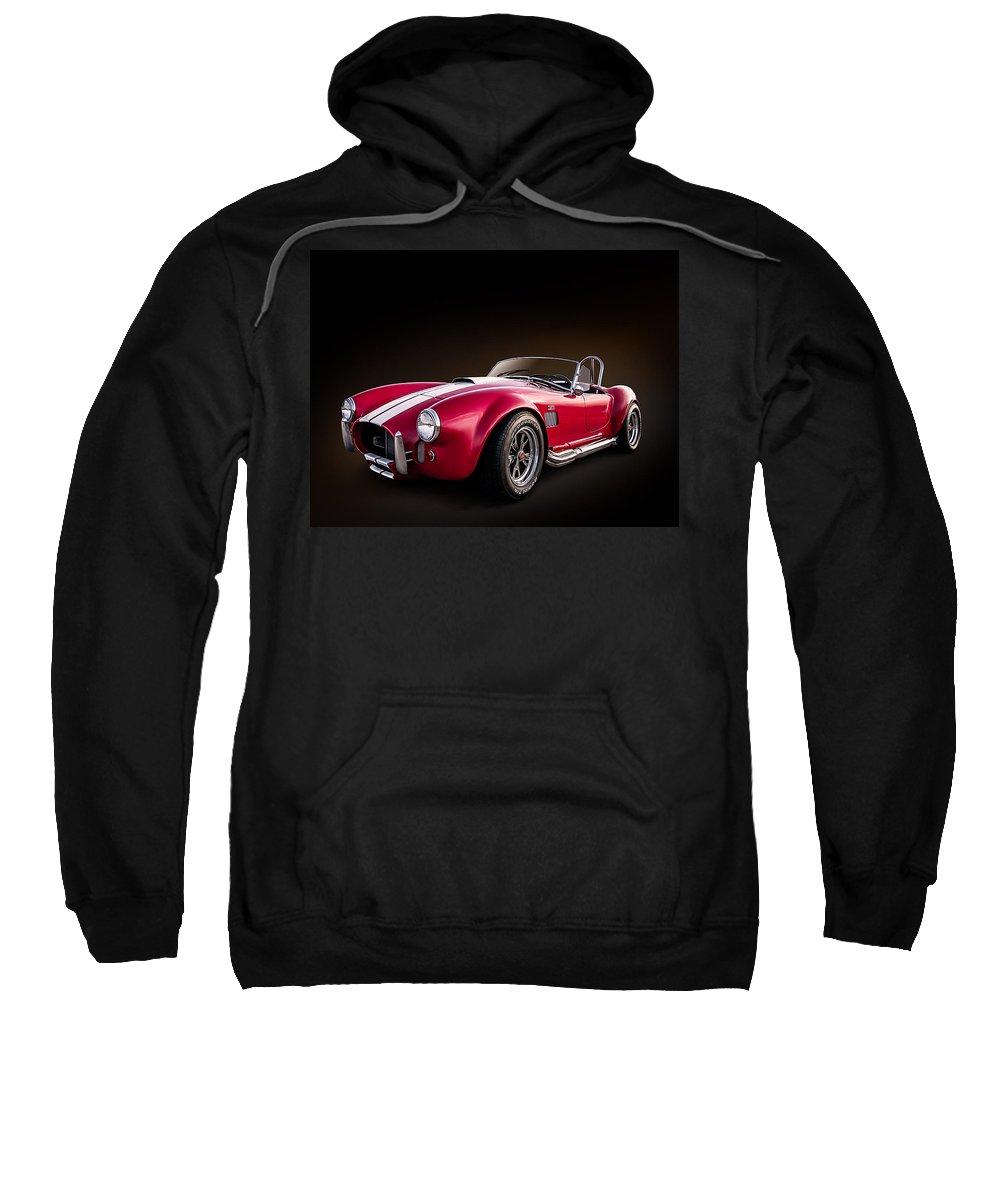 Red Sweatshirt featuring the digital art Ac Cobra by Douglas Pittman