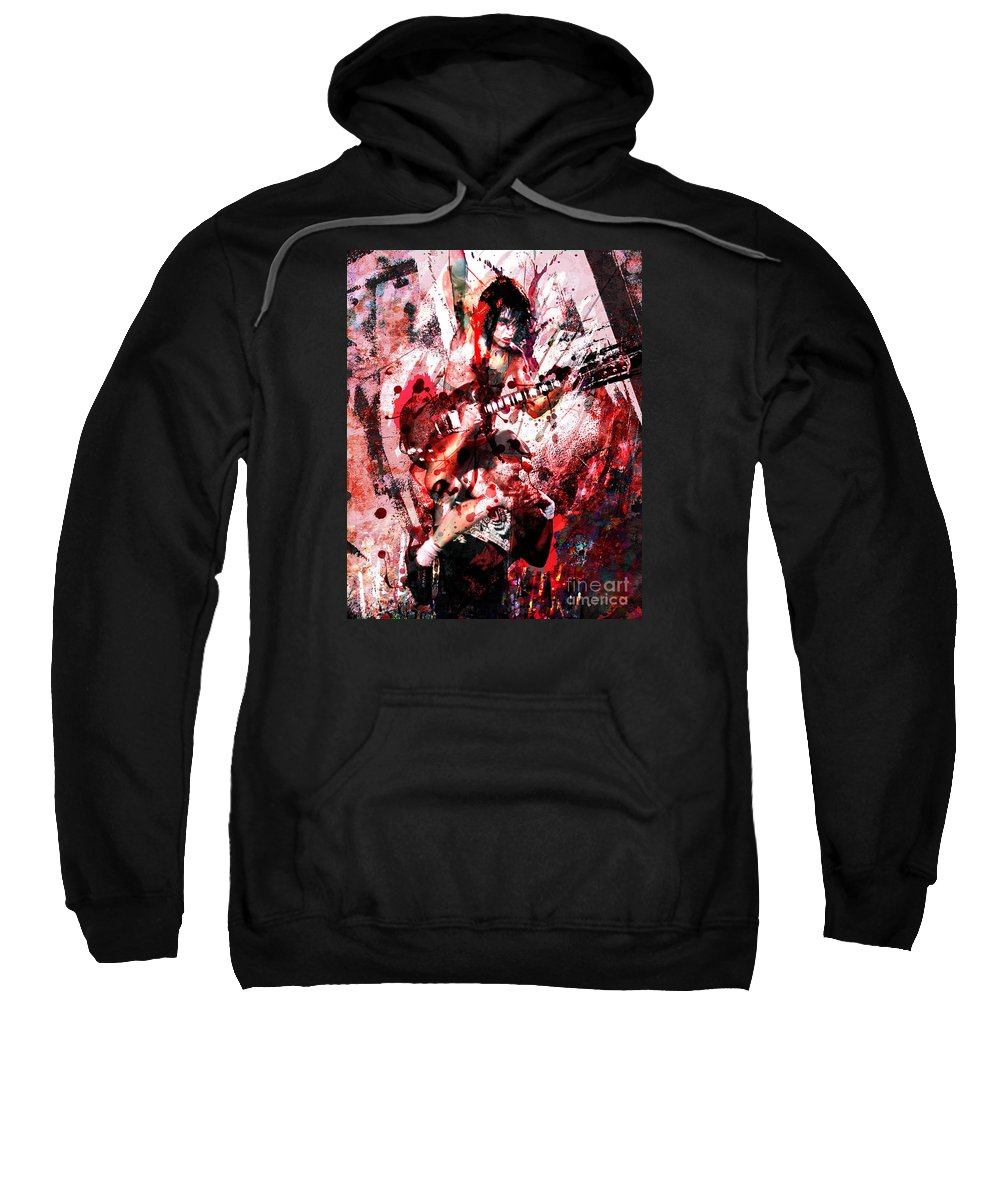 Rock N Roll Sweatshirt featuring the painting Ac Dc Original by Ryan Rock Artist