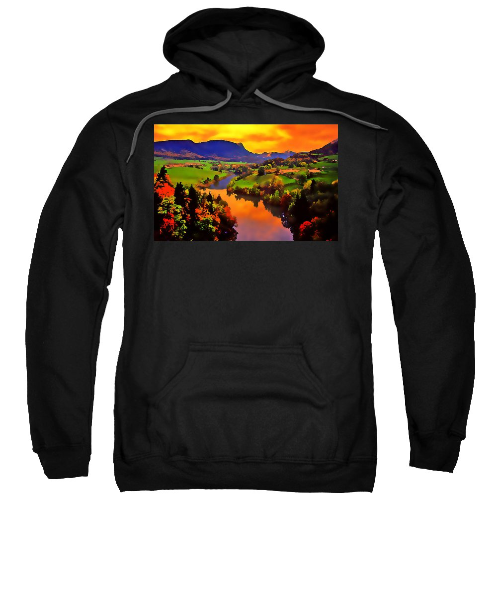 Landscape Sweatshirt featuring the photograph Across The Valley by Stephen Anderson