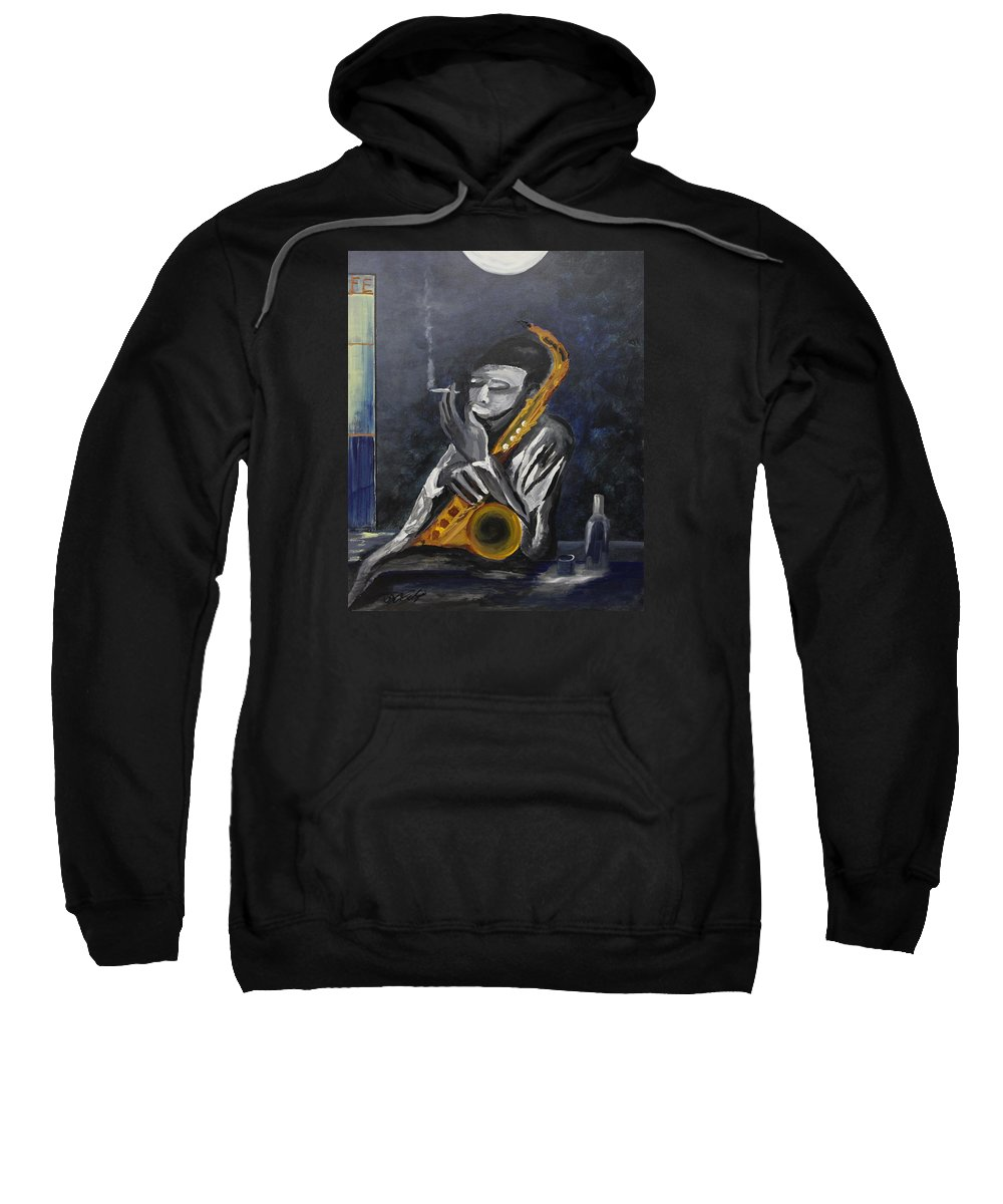 Originals Sweatshirt featuring the painting Acrylic Msc 137 by Mario Sergio Calzi